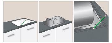 comment couper plan de travail cuisine pose d un évier encastré dans un plan de travail ooreka