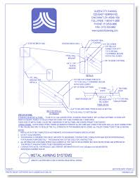 Standing Seam Metal Awning Metal Awning Systems Queen City Awning Caddetails