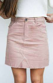 corduroy skirt in your dreams corduroy skirt blush herringstone s boutique