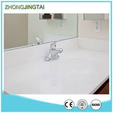 Custom Quartz Vanity Tops China Golden Sand Artificial Quartz Stone Custom Double Sinks