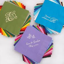 beverage napkins personalized 3 ply paper my wedding reception