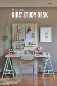 Kid Study Desk Bondville Kid S Study Space With Pegboard Traditional