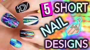 nail art fantastic easy nail art for short nails photoeas cute