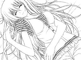 anime coloring pages to print for teenagers colorings pinterest