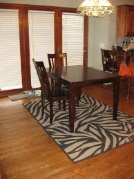 Zebra Dining Room Chairs Using Dining Room Rugs Designoursign