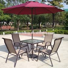 Patio Furniture Glass Table 6 Piece Outdoor Garden Patio Furniture Glass Aluminum Dining Table