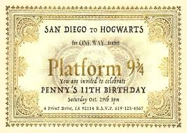 you are invited to celebrate harry potter platform 9 3 4 ticket inspired personalized birthday