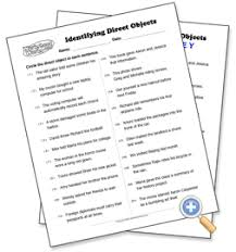 direct objects worksheet free worksheets library download and