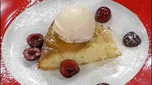 video upside down pineapple cake with ice cream martha stewart