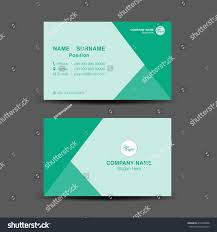 green business card vector backgroundflyer designpolygon stock