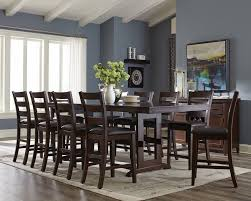 White Pub Table Set - dining room counter height breakfast table high dining set high