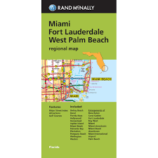 Map Of Palm Beach Florida by Folded Maps Miami Fort Lauderdale And West Palm Beach Regional Map