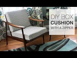 how to make a box cushion with a zipper youtube