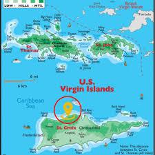 Map Of St Croix Maps Caribbean Sea Virgin Islands And Caribbean