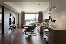 minimalist modern design living room sleek modern brown living room with glossy floor and