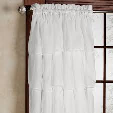 Shabby Chic Voile Curtains by Gypsy Sheer Voile Ruffled Window Treatment