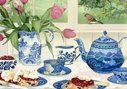 happy birthday cream tea e card by jacquie lawson