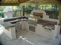 shaped kitchen island made of cedar tree designs pinterest get the look of an expensive outdoor kitchen for less surround a