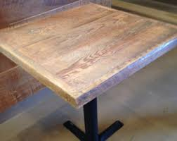 reclaimed wood table tops for restaurants by freshrestorations