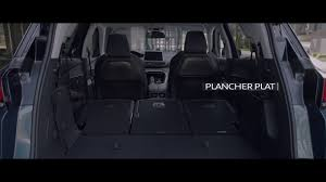 peugeot 5008 trunk peugeot 5008 modularité etendue officiel youtube