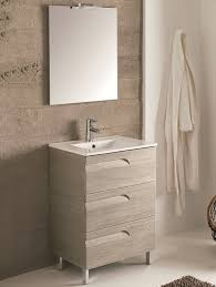 24 inch modern maple single sink bathroom vanity integrated