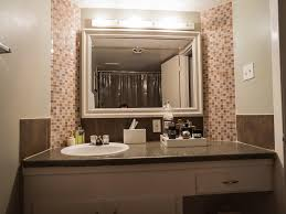 Bathroom Mirrors Houston The Full Bathroom Has Very Cool Tile Accents Around The Mirror And