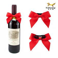 wine bottle bow wine bottles neck decorations handmade ribbon bow buy ribbon bow