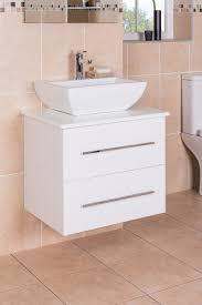 vitalise white 600mm wall hung vanity unit u0026 basin