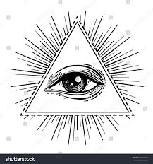 eye providence masonic symbol all seeing stock vector 369755027