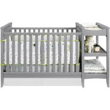 Baby Cribs With Changing Table Attached Baby Relax 2 In 1 Crib N Changer Combo Gray Walmart