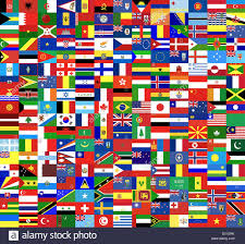 Flag Of The World Flags Of The World Side By Side Forming A Texture Stock Photo