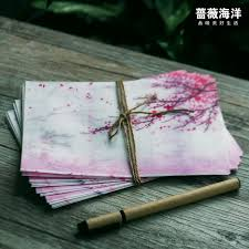 5pcs lot pink japan cherry sakura blossom painting design