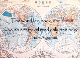 St Augustine Map Custom World Map Print Travel Quote The World Is A Book Vintage