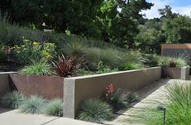 fieldstone retaining wall landscape tropical with garden wall