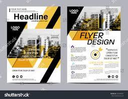yellow flat modern brochure layout design stock vector 478344601