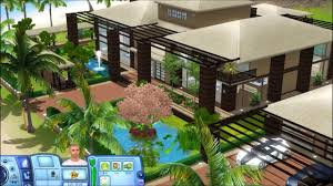 sims 3 tropical house with plans youtube