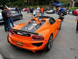 porsche orange porsche 918 spyder weissach in outrageous orange mind over motor