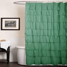 Turquoise Ruffle Curtains Lush Decor Ruffle White 84 Inch Curtain Panel Free Shipping On