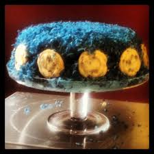 cookie monster birthday cake with cookie dough filling with pictures