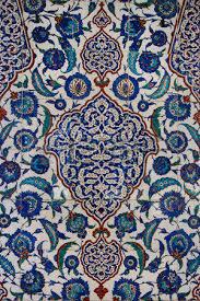 Ottoman Tiles Ottoman Tiles Floral Pattern On Turkish Tiles Stock Photo