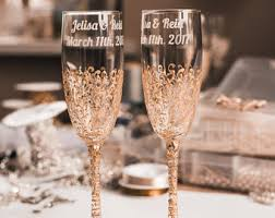 wedding glasses wedding flutes etsy