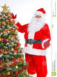 christmas tree and santa christmas lights decoration