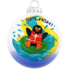 splash water park penguin glass ornament hungary made european