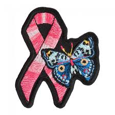 breast cancer pink ribbon butterfly patch cancer support patches