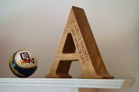 personalized wooden gifts engraved wooden alphabet letters makemesomethingspecial