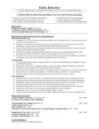 Aerobics Instructor Resume Cover Letter Resume Sample For Ece Teacher Templates