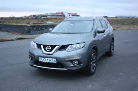 nissan blue 4x4 rental car in iceland nissan x trail 4x4 diesel 7 seats
