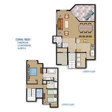 2 Bedroom Condo Floor Plans by Hilton Head Island Coral Reef Resort Floor Plan