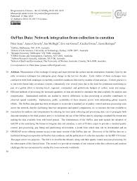 ozflux data network integration from collection to curation pdf