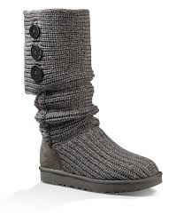 s cardy ugg boots grey ugg cardy button detailed knit boots dillards